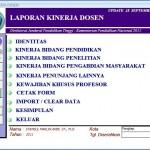 Perpanjangan Pengisian BKD Online Semester Genap 2012/2013